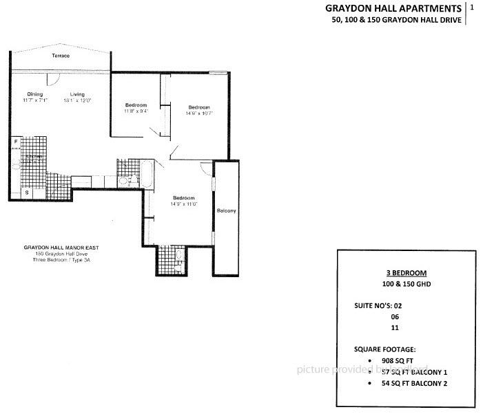 100 Graydon Hall Dr, North York, ON : 3+ Bedroom For Rent