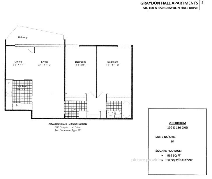 100 Graydon Hall, North York, ON : 2 Bedroom For Rent