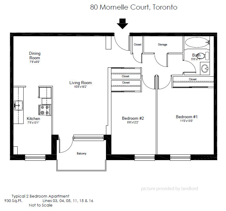 80 Mornelle Crt, Scarborough, ON : 2 Bedroom For Rent